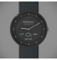 Smartwatch mockup - weather vector image vector image