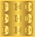 sosial media icon gold vector image vector image