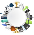 sport round frame 3d realistic vector image