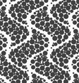 Textured with dots big ripples vector image vector image