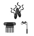 theatrical art black icons in set collection for vector image