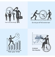 Time management composition sketch vector image vector image