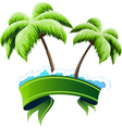 Tropical resort concept vector image