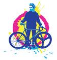 Urban rider vector image