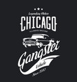 vintage gangster vehicle logo vector image