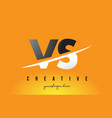 vs v s letter modern logo design with yellow vector image vector image