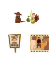 wild and west logo vector image vector image