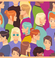 woman seamless pattern female crowd from diverse vector image vector image