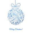 Xmas doodle ball vector image