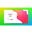 yoga day landing page vector image