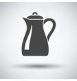 Glass jug icon vector image