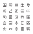 SEO and Marketing Outline Icons 2 vector image