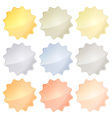 set of blank glossy templates of different metals vector image