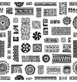 Ethnic handmade ornament seamless pattern for vector image
