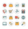 Shopping outine icons flat vector image