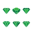 Diamond set icon Shiny vector image