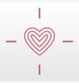 heart target logo icon vector image