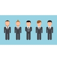 modern people silhouettes set on blue vector image