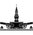 stencil of russian kremlin vector image