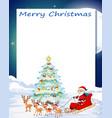 a merry christmas cgard template vector image vector image