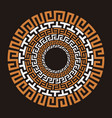 ancient greek round meander key vector image