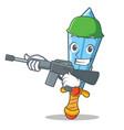 army sword character cartoon style