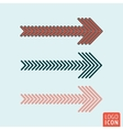 Arrows icon isolated vector image vector image