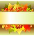 autumn text box vector image vector image