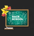 back to school chalk board realistic vector image