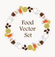 background a set drinks for breakfast menu vector image