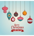 ball merry christmas isolated vector image
