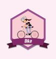 bike emblem design vector image