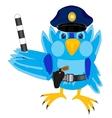 Bird police vector image vector image