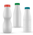 blank milk or yoghurt white bottle with screw cap vector image vector image