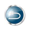 Blue web button vector image vector image