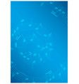 bright music background with notes - blue flyer vector image vector image