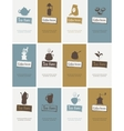 business cards on tea and coffee vector image vector image