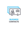 business contacts concept outline icon linear vector image vector image