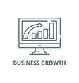 business growth line icon business growth vector image vector image