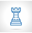 Chess icon simple blue line style vector image