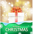 christmas background with the words merry vector image