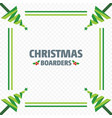 christmas border of green trees vector image