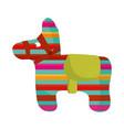 cinco de mayo donkey pinata decoration vector image