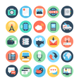 Communication Flat Icons 5 vector image vector image