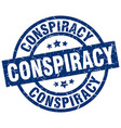 conspiracy blue round grunge stamp vector image vector image