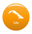 cuba map in black simple vector image
