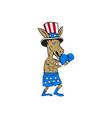 Democrat Donkey Boxer Mascot Cartoon vector image vector image