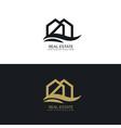 elegant house logo design template vector image
