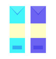 envelopes of different color vector image