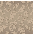Floral seamless brown pattern vector image vector image